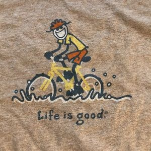 LIFE IS GOOD Men's Bike Tee Shirt